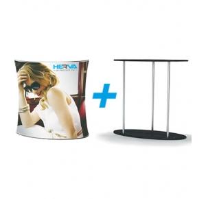 Stretch desk oval set