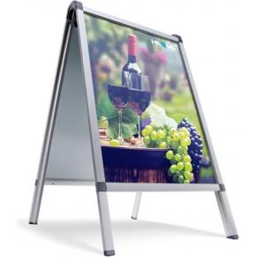 A-board (50 x 70 cm) met print