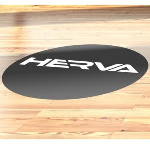 Vloersticker rond (40 x 40 cm) - COVID-19